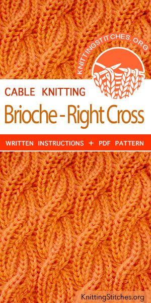 Cable Brioche Right Cross Knitting Knitting Patterns Sweater