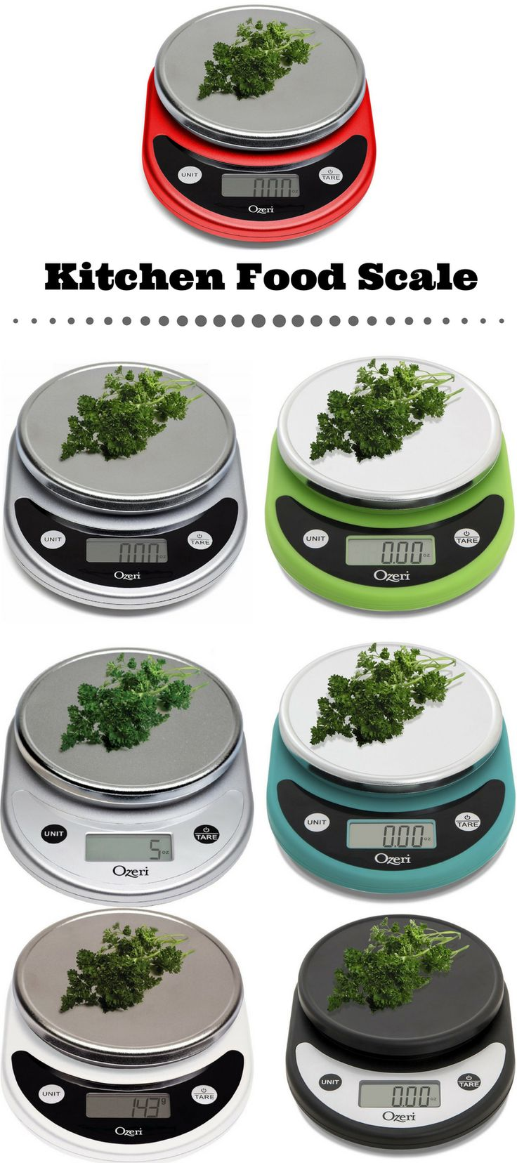 Best selling kitchen food scale in different colors. This kitchen food scale is multifunctional and easy to use. #kitchen #food #kitchendesign