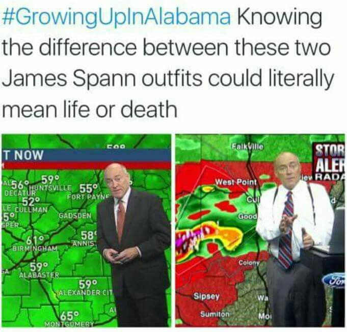 How James Spann is dressed can be very important!