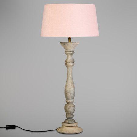 L mpara de mesa rituals gris con pantalla 35cm rosa - Decoracion con lamparas ...
