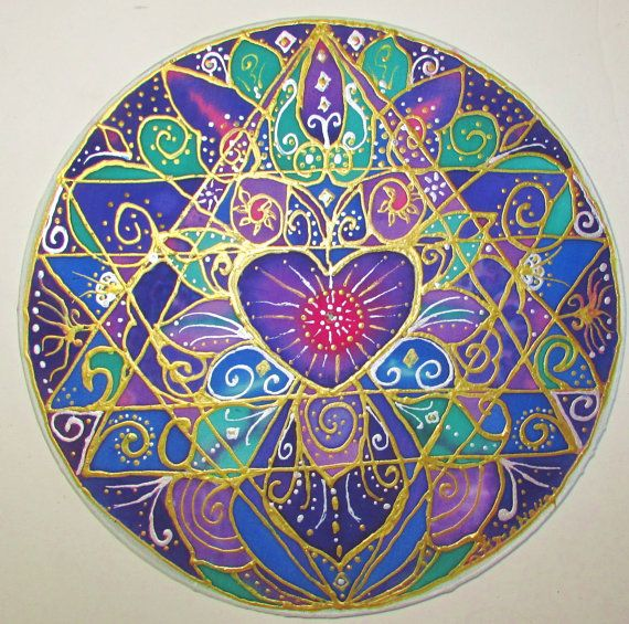 arte del mandala saggezza del cuore mandala di HeavenOnEarthSilks