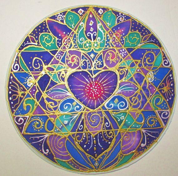 mandala art Wisdom of the Heart heart by HeavenOnEarthSilks, $45.00