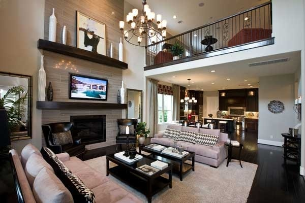 Grand family room with loft. If this was  just my house w/ a bathroom and a kitchen OMG i would be in heaven