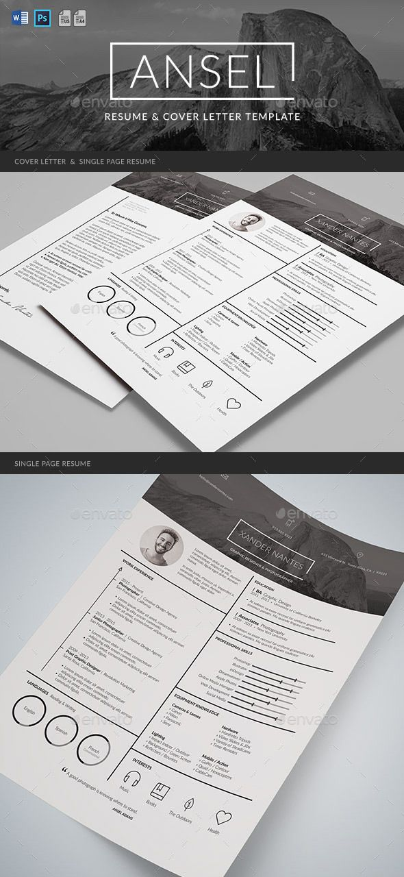 Graphic resume design template 8 best