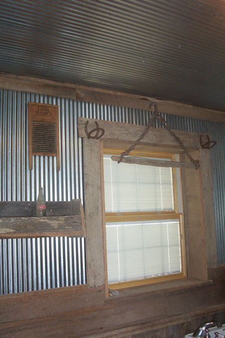 Best 25+ Tin on walls ideas on Pinterest | Rustic shower, Man cave ...