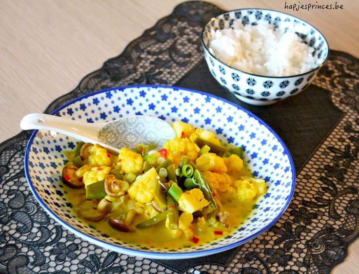 Koken met restjes: thaise curry met bloemkool en rijst