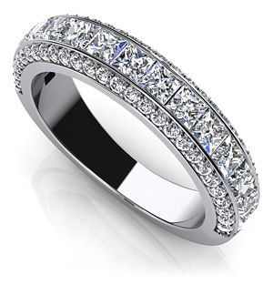 Channel Set Princess and Round Anniversary Ring would be perfect with my engagement ring!!