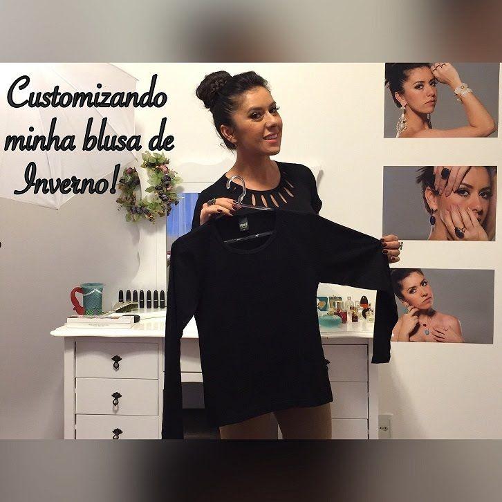 DIY - Customizando minha blusa de inverno