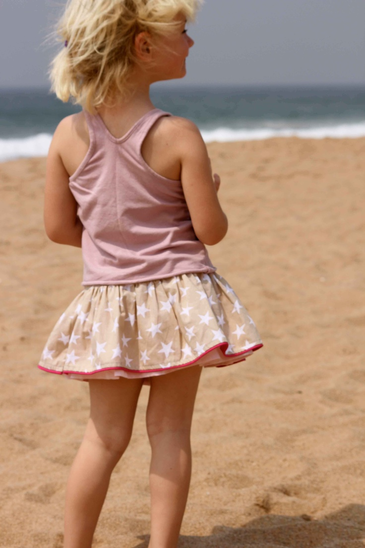 Cowgirlzzz double sided beige skirt