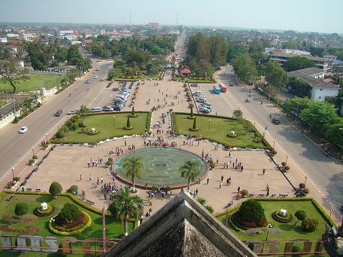 View from Victory Gate in Vientiane, Laos