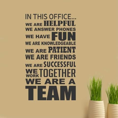 In This Office Team decal