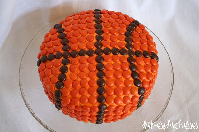 a basketball cake ... perfect for the team party or March Madness viewing