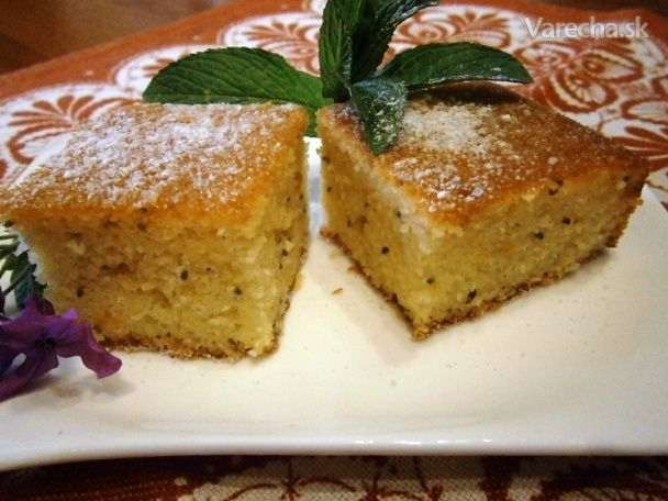 Koláč s pomarančovou príchuťou s chia semiankami (fotorecept) - Recept
