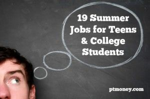 19 Summer Jobs for Teens & College Students: A list of great summer job ideas for teenagers and college students. Find out which jobs can help you can save up for college, investing, or even you first home. These ideas can make your summer fun and rewarding!