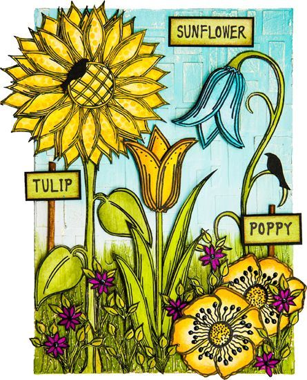PaperArtsy: 2015 Topic14: Flowers{Challenge}