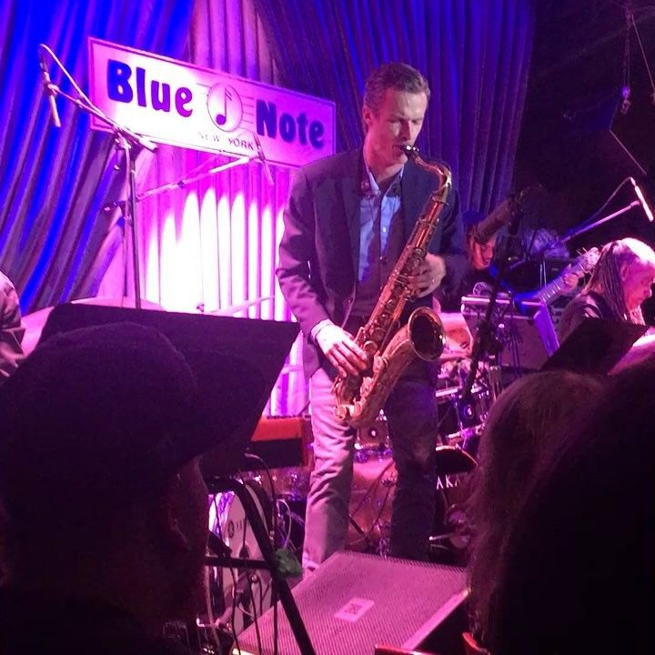 Jazzy nights version 2 at The Blue Note. #jazz #bluenote #memories #thelooploftallstars #natesmith #nyc #newyork #bigapple #music