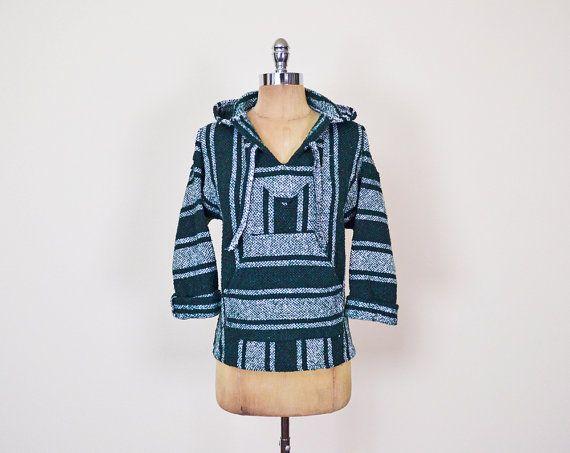 #Vintage #Green #Stripe #Woven #Blanket #Baja #Mexican #Poncho #Hoodie #Sweatshirt #Pullover #Jacket #90s #Grunge #Surf #Surfer Women XS Extra Small S M Medium #Striped #BajaHoodie #MexicanPoncho #MexicanHoodie #DrugRug #Etsy #EtsyVintage #TrashyVintage @Etsy $28.00