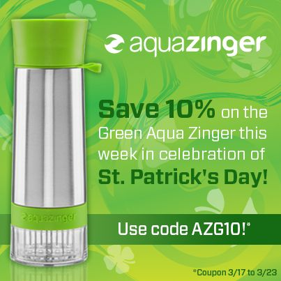 37 best coupons and specials images on pinterest coupon coupons use coupon code azg10 to save 10 on the green aqua zinger this week in fandeluxe Image collections
