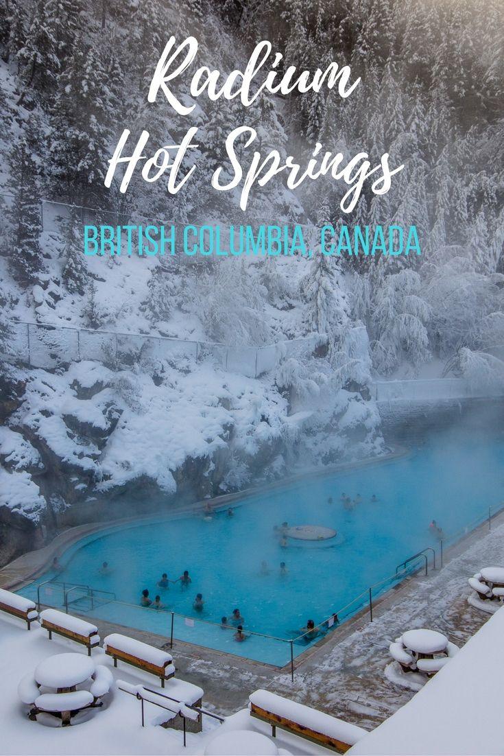 The Radium Hot Springs near Invermere, B.C., Canada.