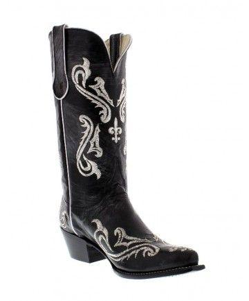 Ferrini Ladies Black / Silver Cowgirl Boots
