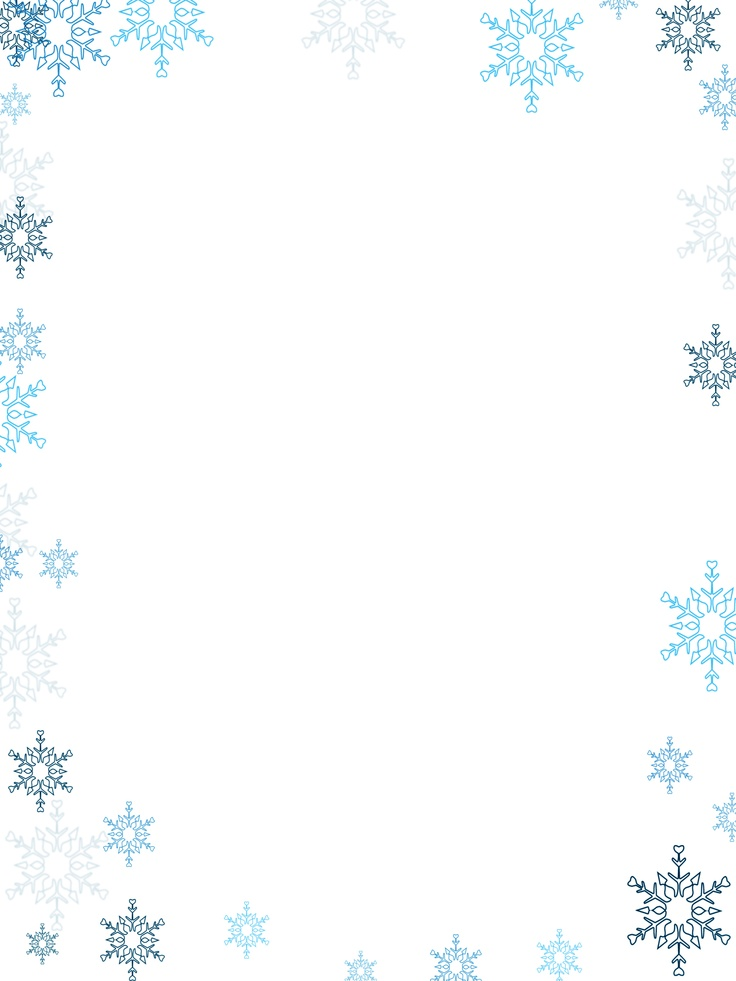 winter border feature | Christmas border, Page borders ...