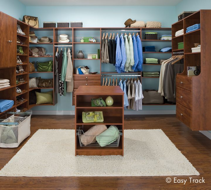Closet Organizers | Custom Closet Systems By Easy Track   Cheap Master  Closet, In White