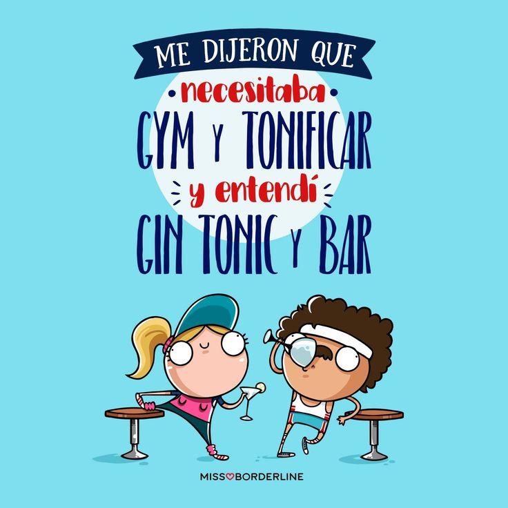 Me dijeron que necesitaba GYM y TONIFICAR y entendí GIN TONIC y BAR! #chistes #graciosas #divertidas #chistosas #humor