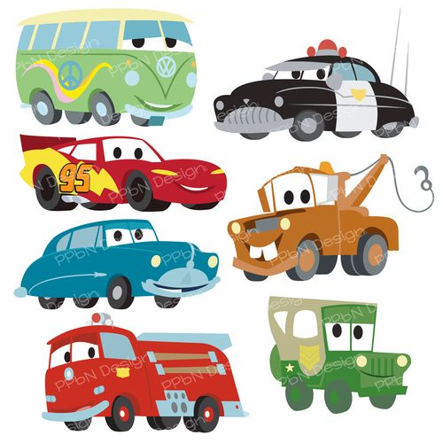 Disney Pixar Cars FREE SVG files and clipart images.
