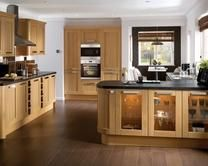 Tewkesbury Light Oak from Howdens. For COLOURWAYS.  Current kitchen is nothing like this but is shaker beech with dark grey worktop and a dark grey floor. But I will be having a LIGHT floor.