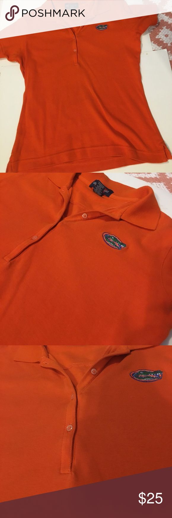 Orange short sleeve collared Florida gators shirt Orange short sleeve collared Florida gators golf shirt Tops Button Down Shirts