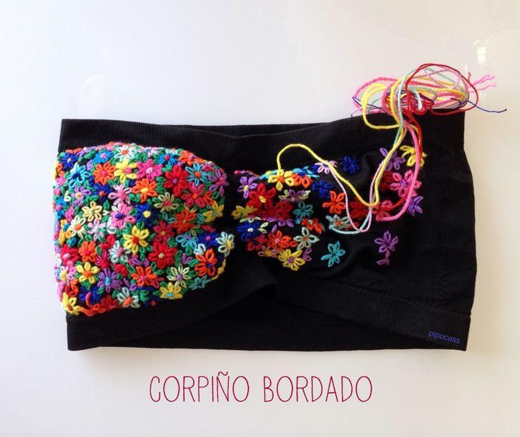 corpiño bordado by pipocass
