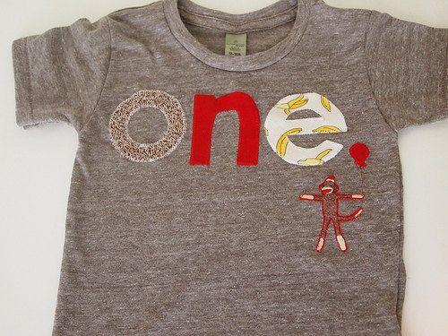 Sock Monkey Detail Birthday shirt Customize by lilthreadzclothing, $34.00