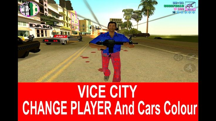 CHANGE VICE CITY GAME PLAYER AND CARS BIKES COLOURS,