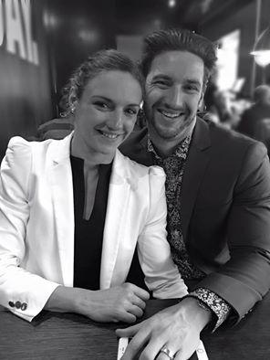Katinka Hosszú Olympic champion 2016 from Hungary, and her husband