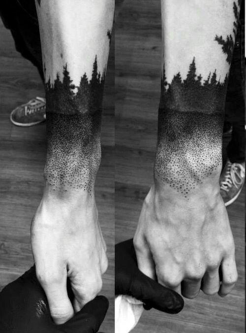 36-tatuagem-braco-masculina-pontilhismo-arvores