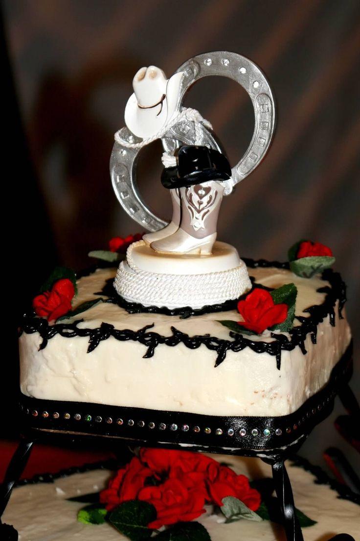 Cake Horseshoe Wedding Western Pictures