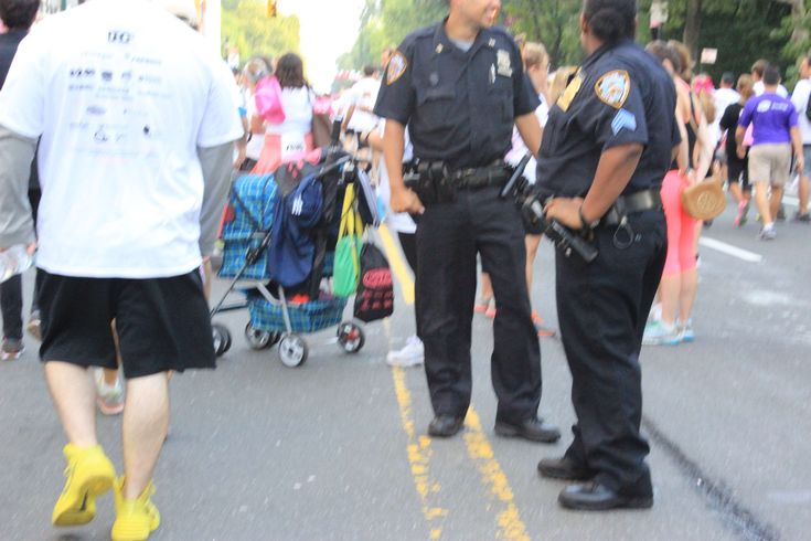 #cancer walk #central park #new york #nypd #police officer