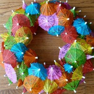 Summer Project: Cocktail Umbrella Wreath