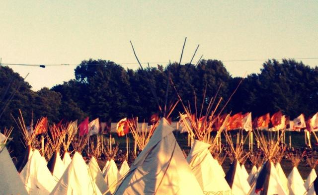 Tipi Village - Glastonbury Festival, via Flickr.