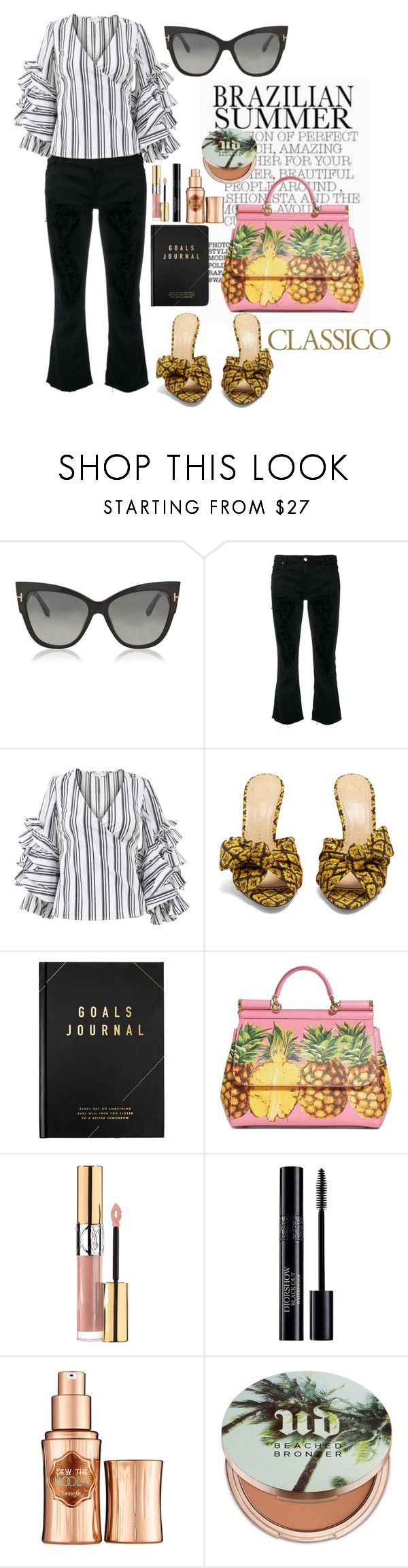 """Copacabana"" by tag-noheuer ❤ liked on Polyvore featuring Tom Ford, IRO, Caroline Constas, Charlotte Olympia, kikki.K, Dolce&Gabbana, Yves Saint Laurent, Christian Dior, Benefit and Urban Decay"