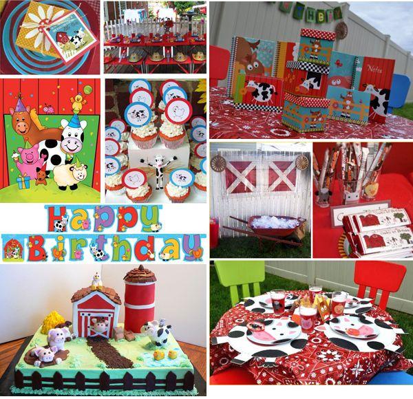 Fiesta en la granja. Ideas para decorar la primera fiesta de cumpleaños de un niño. Definitivamente, la de 3