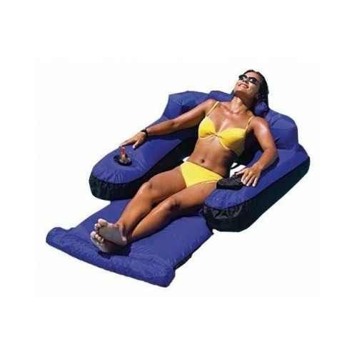FLOATING LOUNGE CHAIR POOL RELAXING WATER RECLINER INFLATABLE BEACH ADJUSTABLE-$71.49