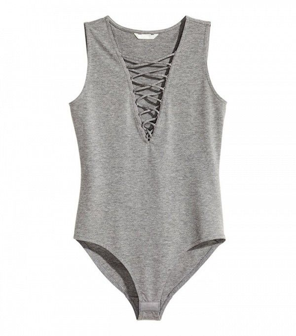 H&M Bodysuit With Lacing