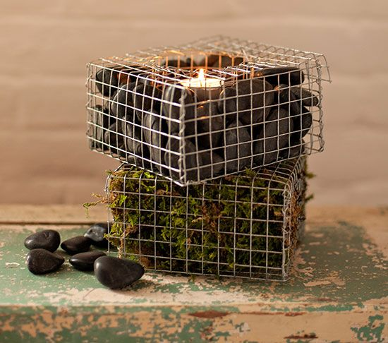 Gabions, which are metal mesh baskets that hold rocks or concrete, have historically been a tool employed by the likes of civil engineers. But these industrial building blocks have come into vogue for uses beyond securing structures and edifices.All images: Kelly Fitzsimmons