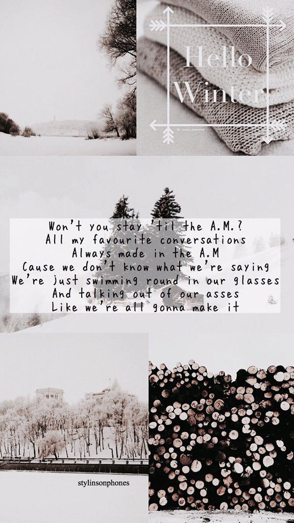 A.M. Winter Lockscreen | ctto: @stylinsonphones