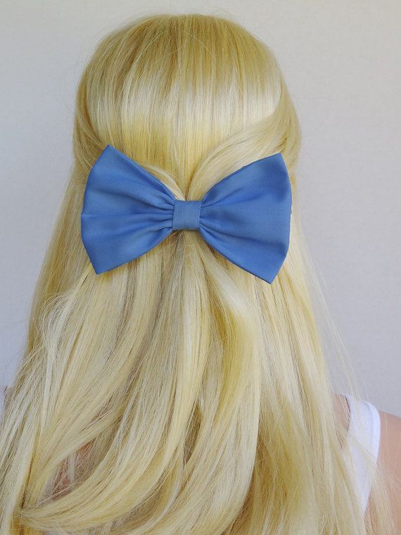 Periwinkle+Hair+Bow+Clip+Periwinkle+Bow+Clip+blue+by+CutieCuteBows,+$4.99