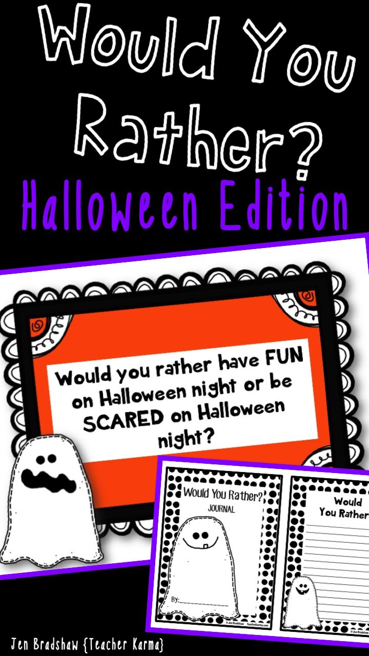 Halloween Would You Rather Writing Prompts Journal