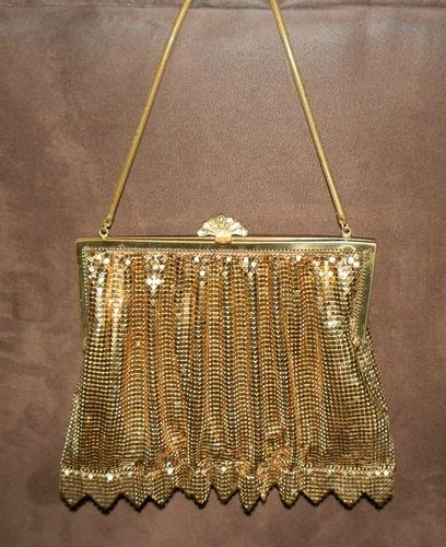 Vintage Gold Glomesh Evening Bag Handbag