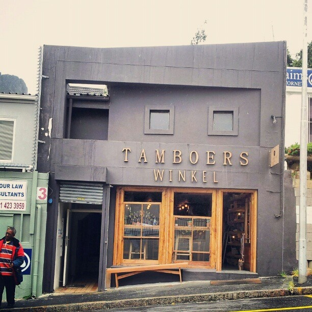 Tamboerswinkel, Cape Town.  The local spot in Trendy Tamboerskloof to grab a quick coffee and have a rotisserie chicken sandwich