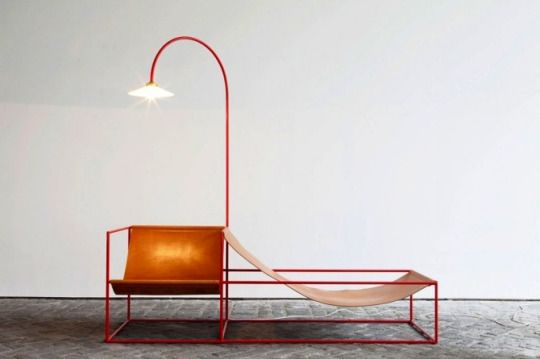 Belgian creative duo Fien Muller and Hannes Van Severen designed a collection of sculptural furniture pieces that combines elements from both art and design.